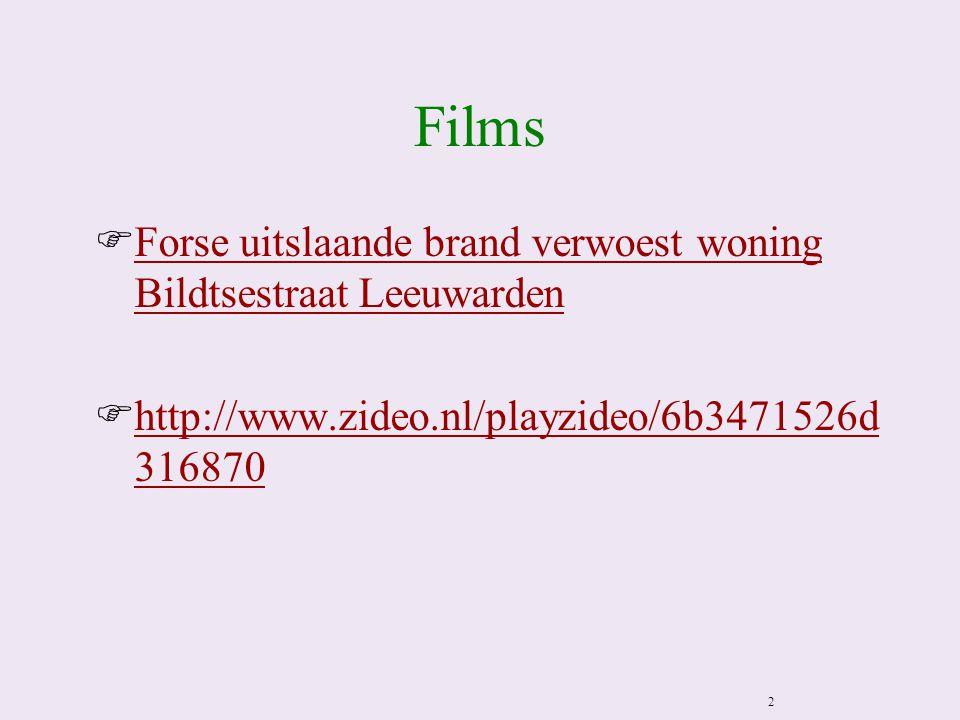 Films Forse uitslaande brand verwoest woning Bildtsestraat Leeuwarden