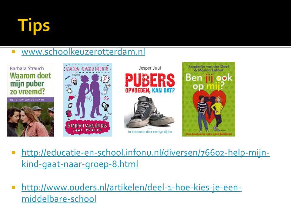 Tips www.schoolkeuzerotterdam.nl