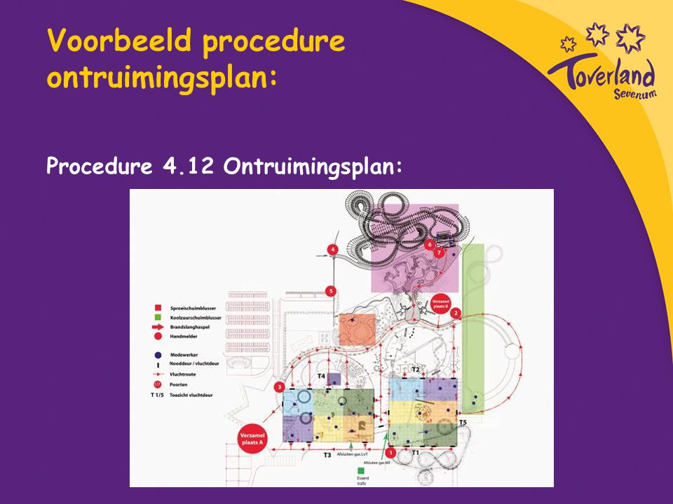 Voorbeeld procedure ontruimingsplan: