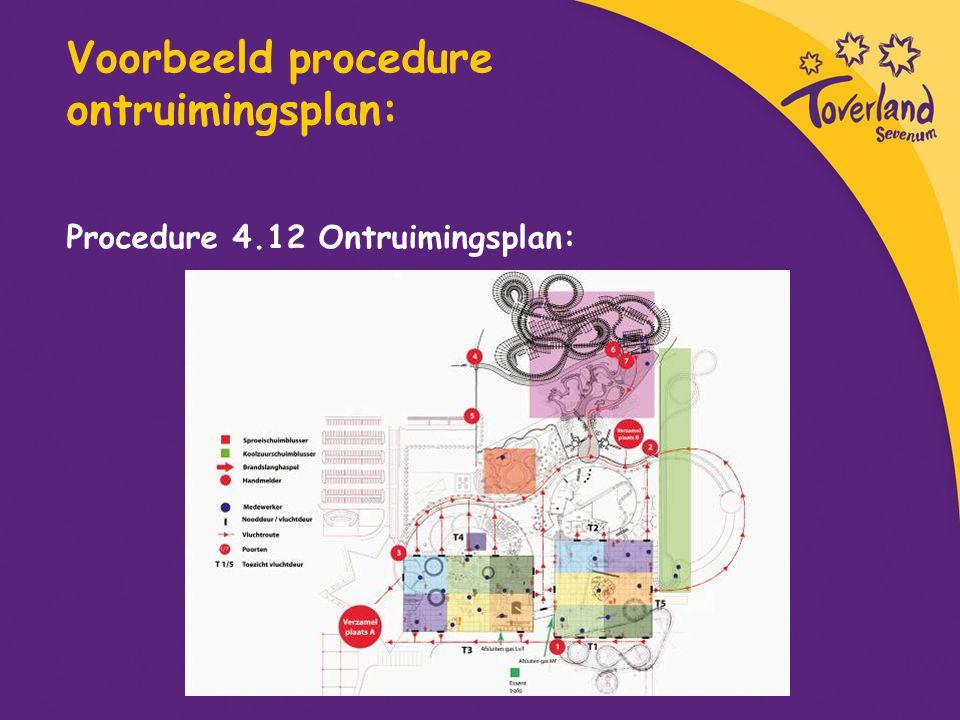 Voorbeeld procedure ontruimingsplan: