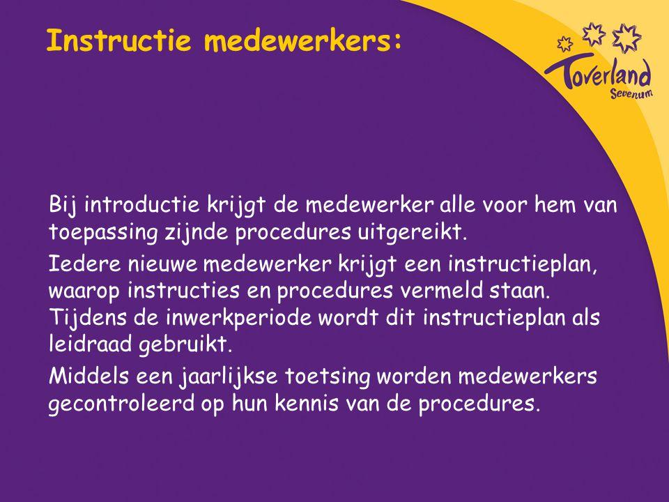 Instructie medewerkers: