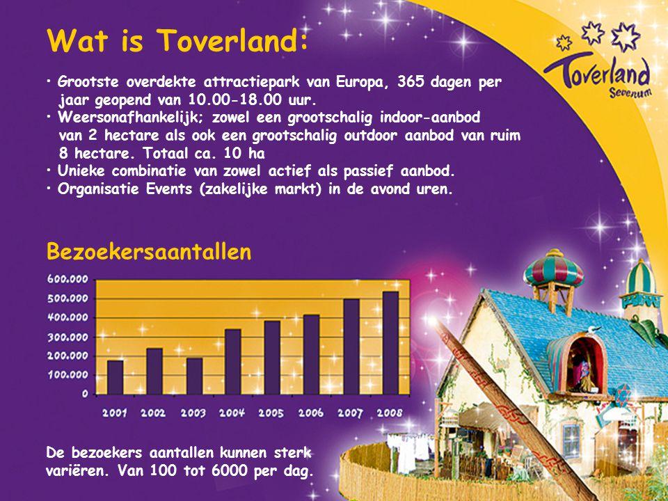 Wat is Toverland: Bezoekersaantallen
