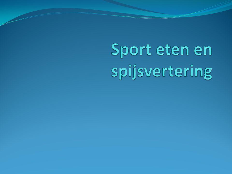 Sport eten en spijsvertering