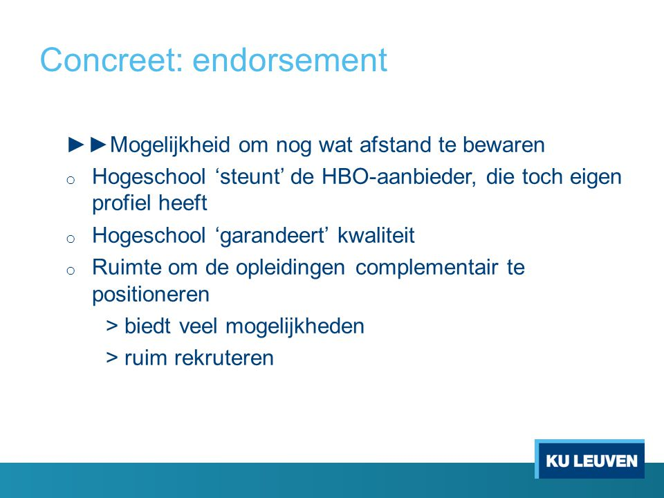 Concreet: endorsement