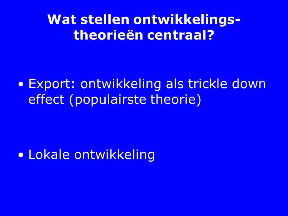 Wat stellen ontwikkelings-theorieën centraal