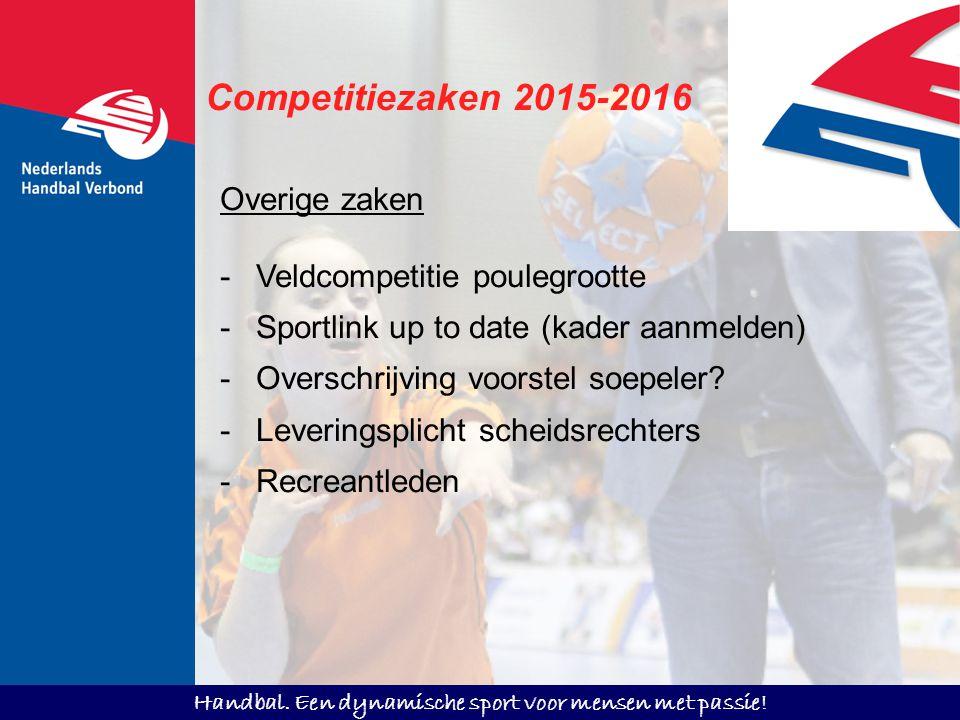 Competitiezaken 2015-2016 Overige zaken Veldcompetitie poulegrootte