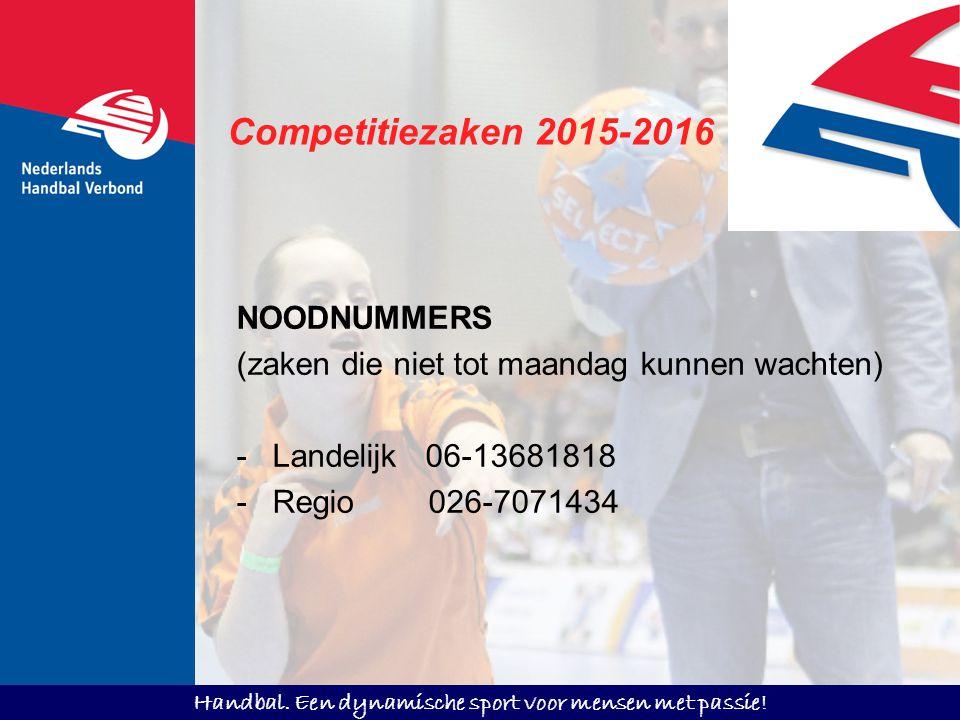 Competitiezaken 2015-2016 NOODNUMMERS