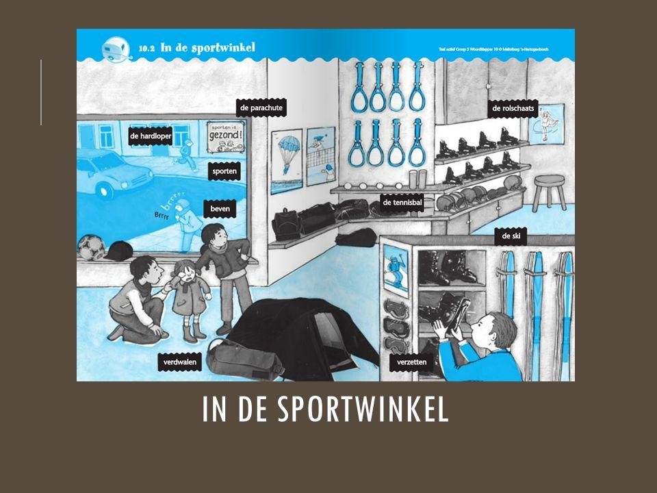 In de sportwinkel