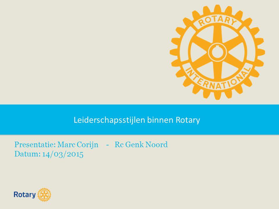 Leiderschapsstijlen binnen Rotary