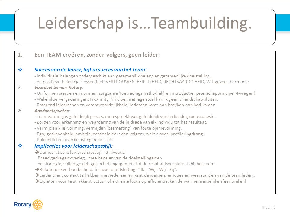 Leiderschap is…Teambuilding.