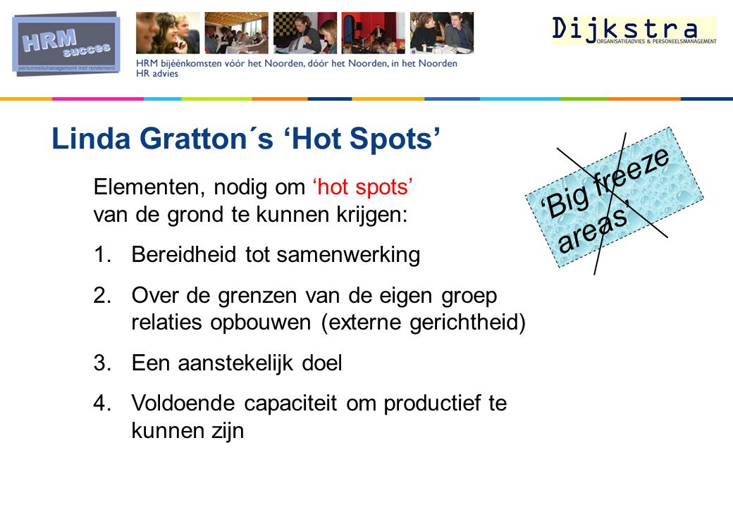 Linda Gratton´s 'Hot Spots' 'Big freeze areas'