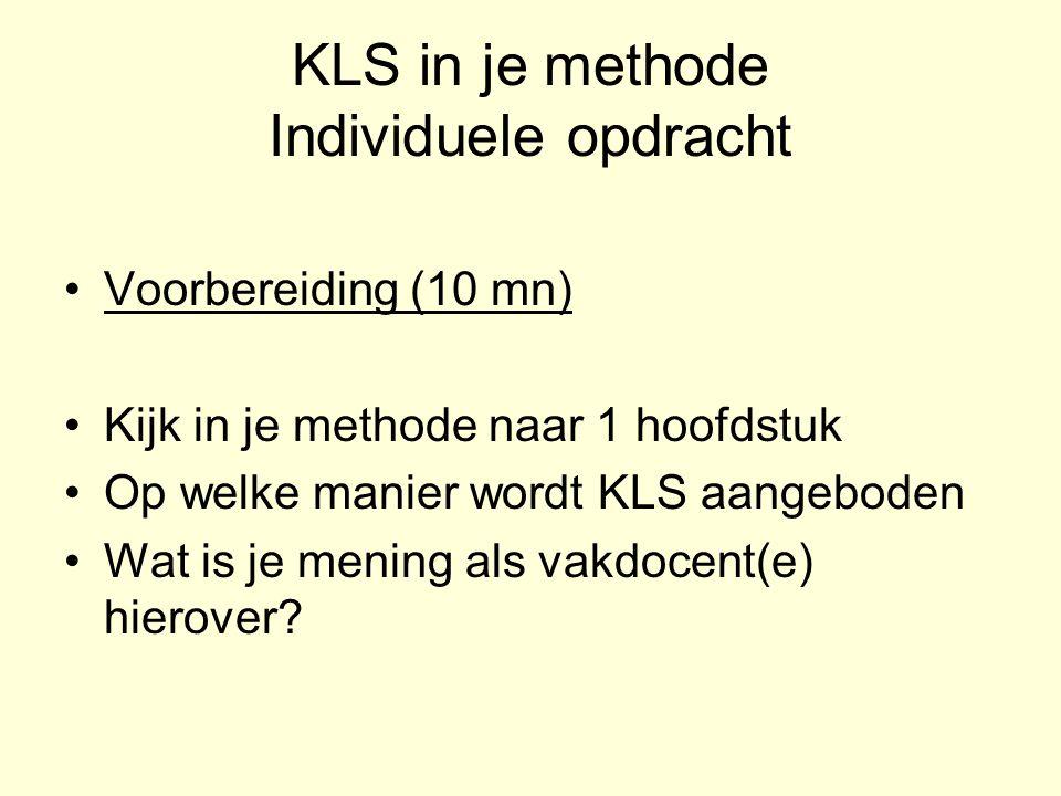 KLS in je methode Individuele opdracht