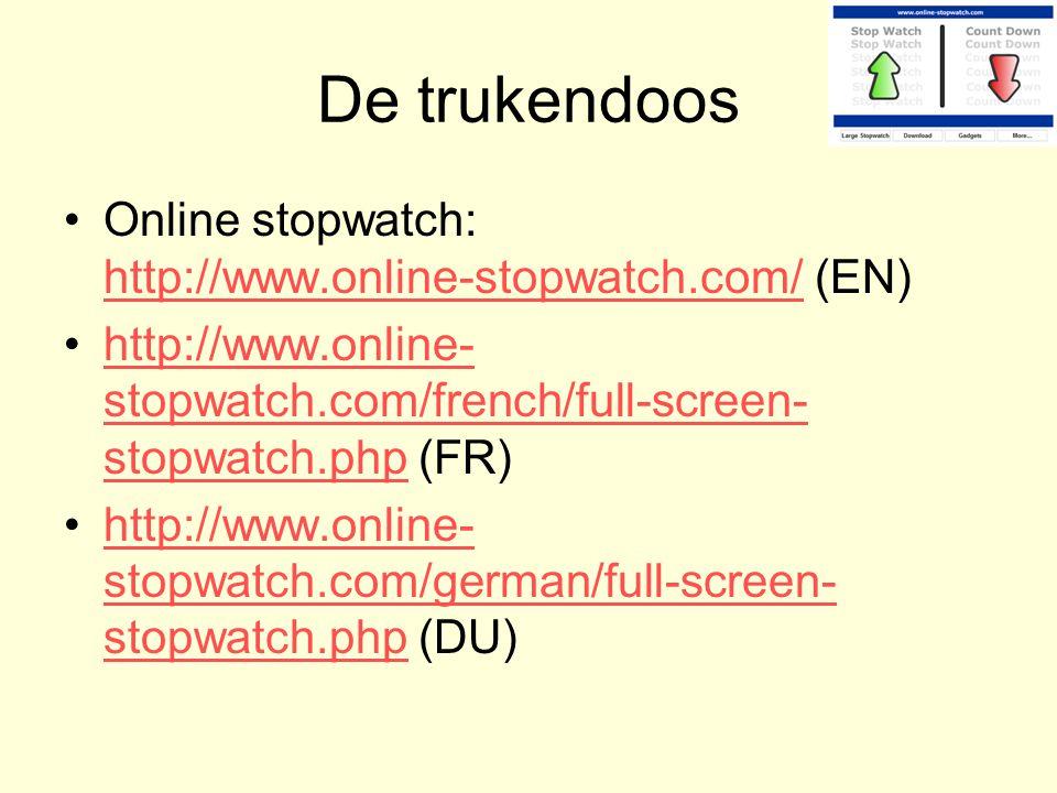 De trukendoos Online stopwatch: http://www.online-stopwatch.com/ (EN)