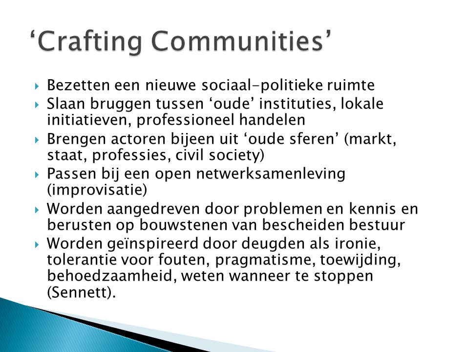 'Crafting Communities'