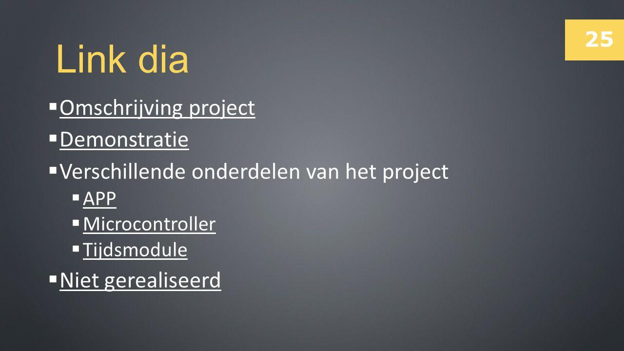 Link dia Omschrijving project Demonstratie