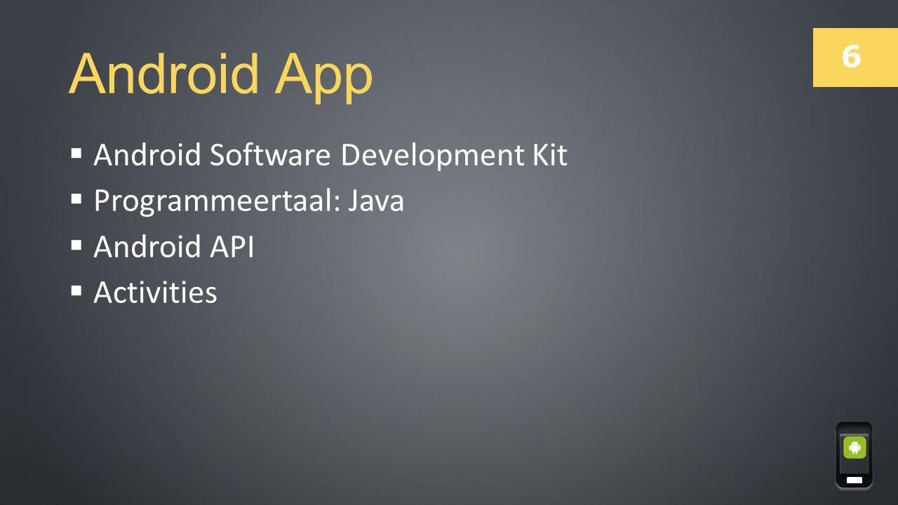 Android App Android Software Development Kit Programmeertaal: Java