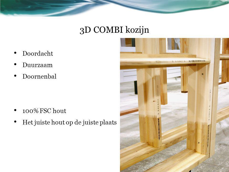 3D COMBI kozijn Doordacht Duurzaam Doornenbal 100% FSC hout