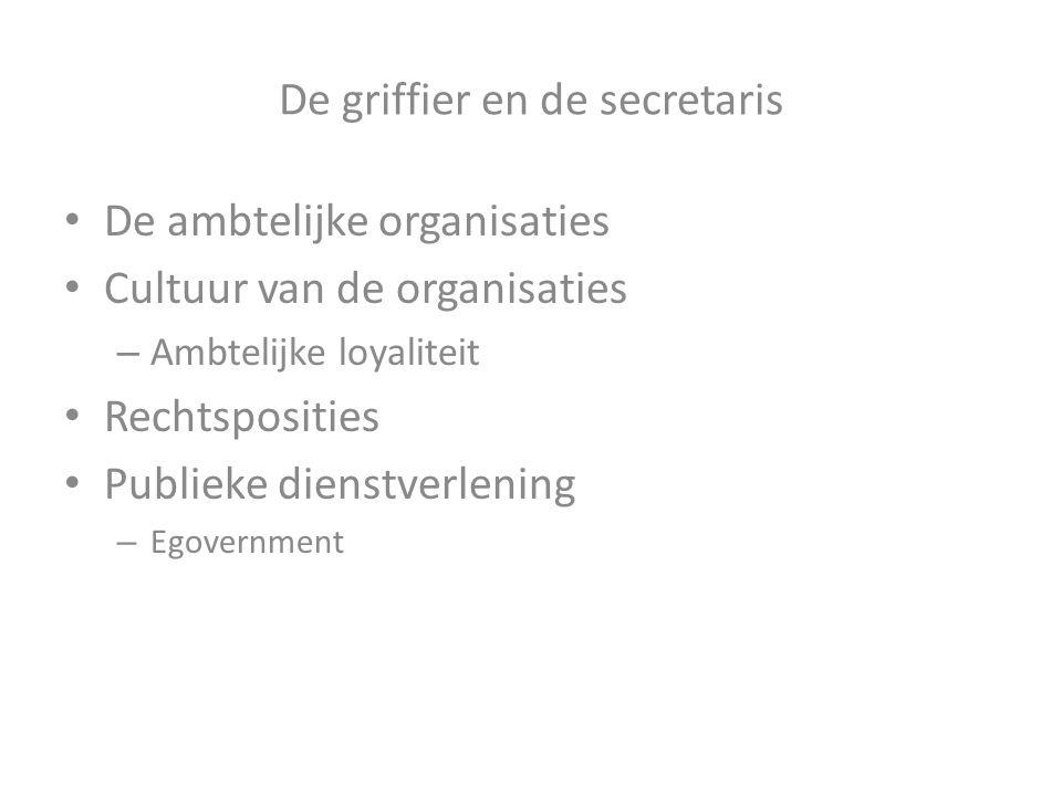 De griffier en de secretaris