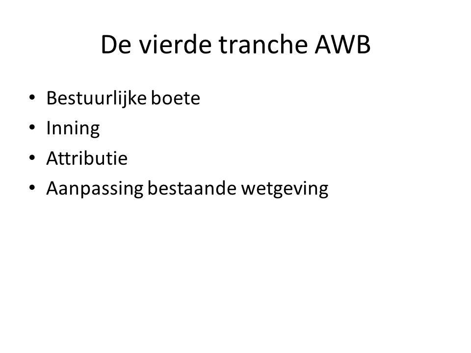 De vierde tranche AWB Bestuurlijke boete Inning Attributie