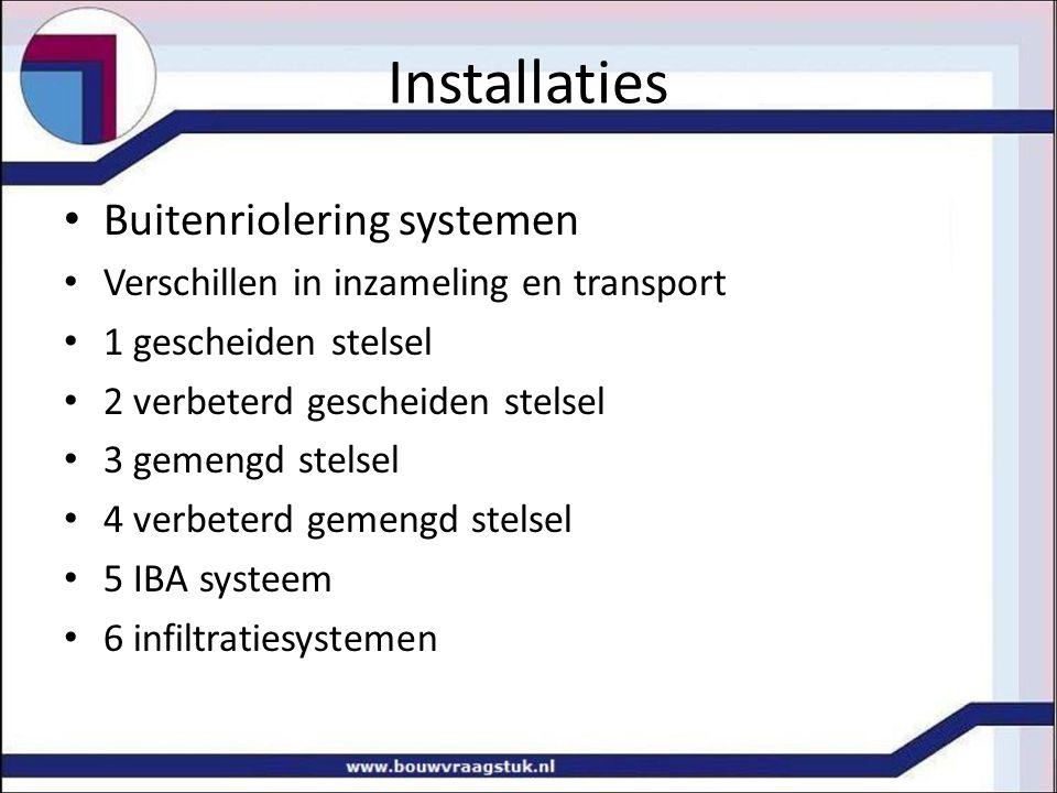 Installaties Buitenriolering systemen