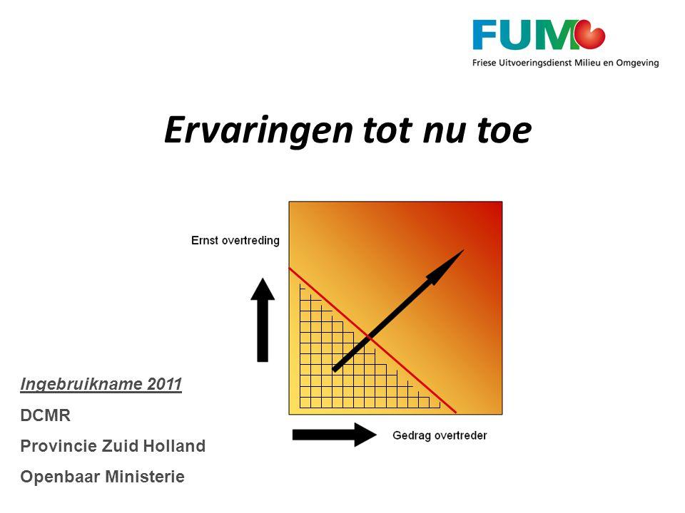 Ervaringen tot nu toe Ingebruikname 2011 DCMR Provincie Zuid Holland