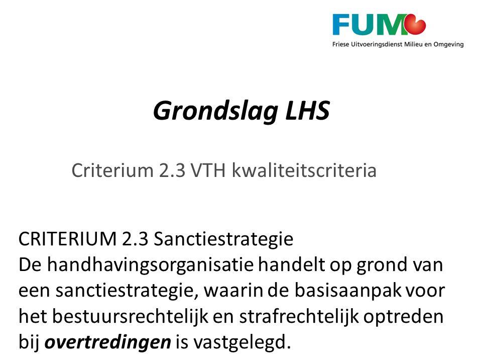 Criterium 2.3 VTH kwaliteitscriteria