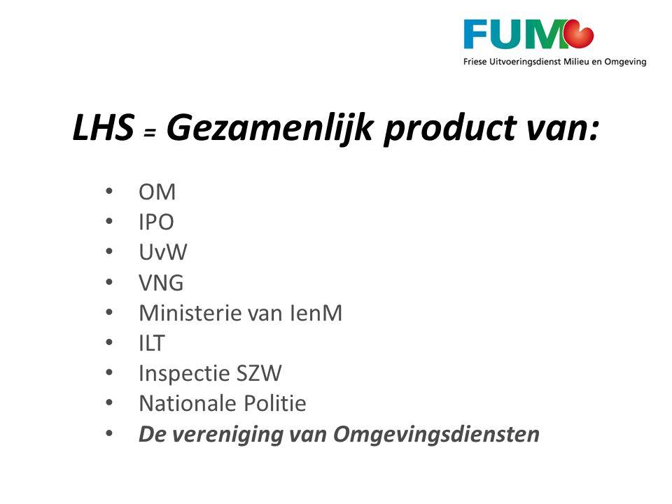 LHS = Gezamenlijk product van:
