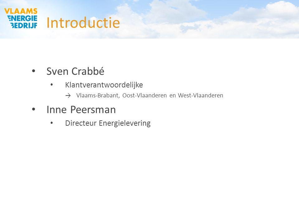 Introductie Sven Crabbé Inne Peersman Klantverantwoordelijke