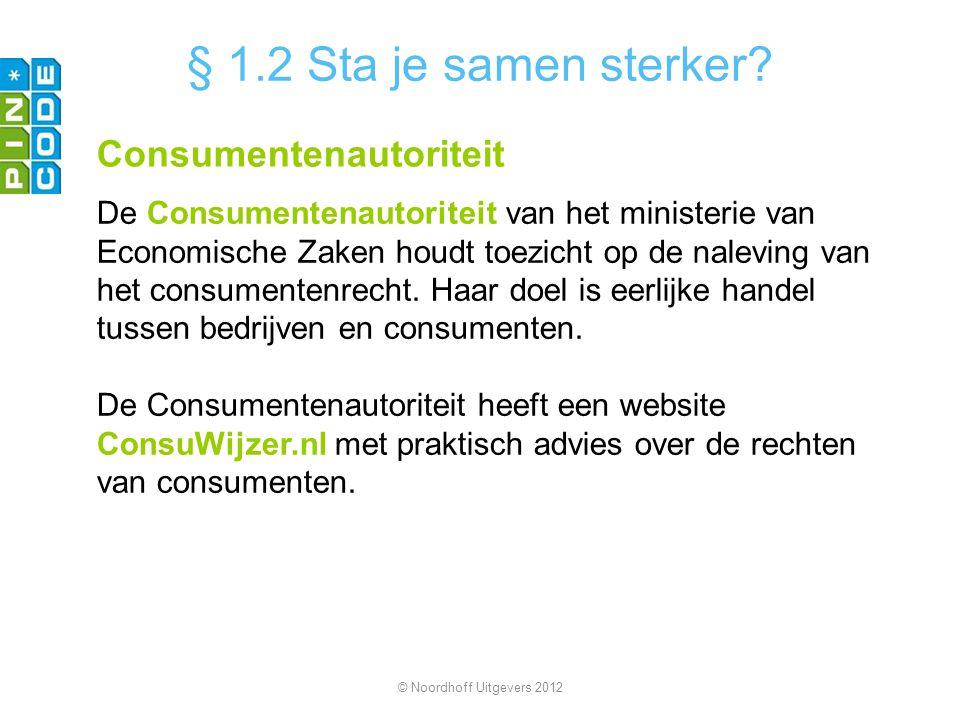 § 1.2 Sta je samen sterker Consumentenautoriteit