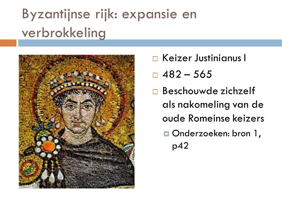Byzantijnse rijk: expansie en verbrokkeling