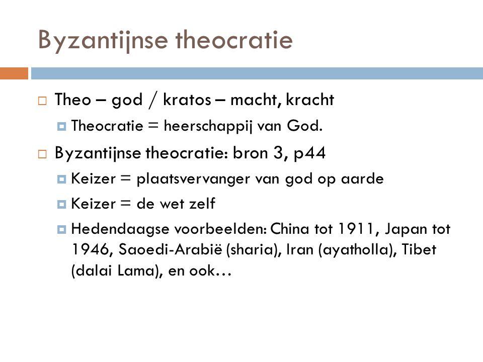 Byzantijnse theocratie