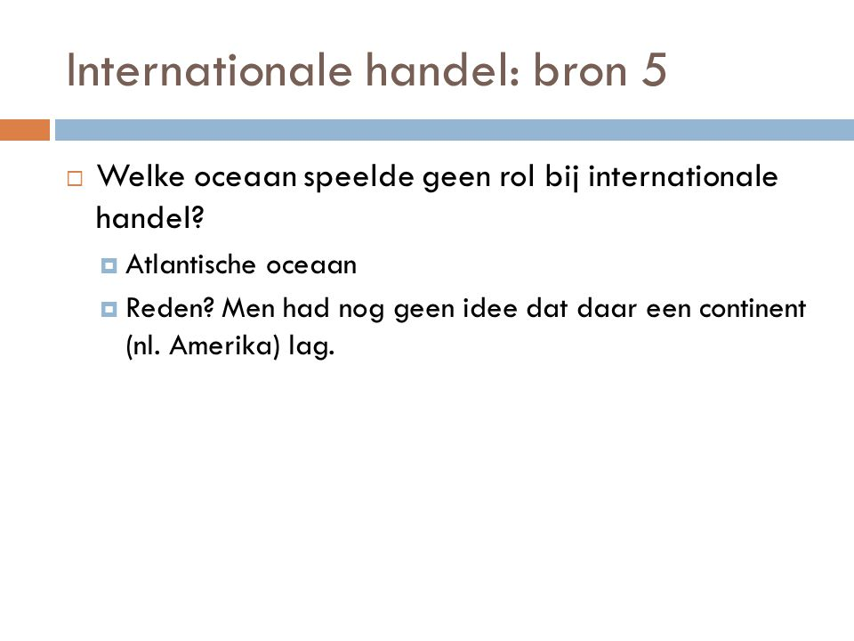 Internationale handel: bron 5