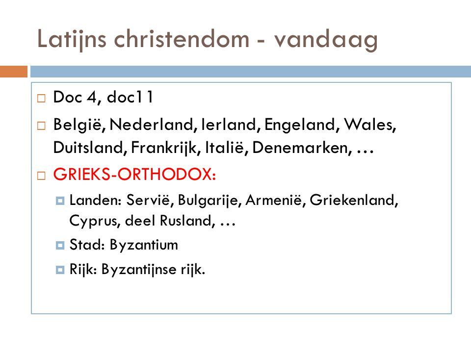 Latijns christendom - vandaag