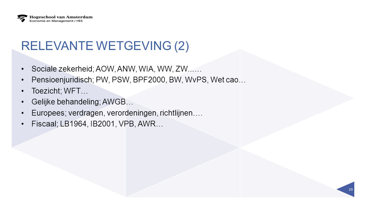 Relevante wetgeving (2)
