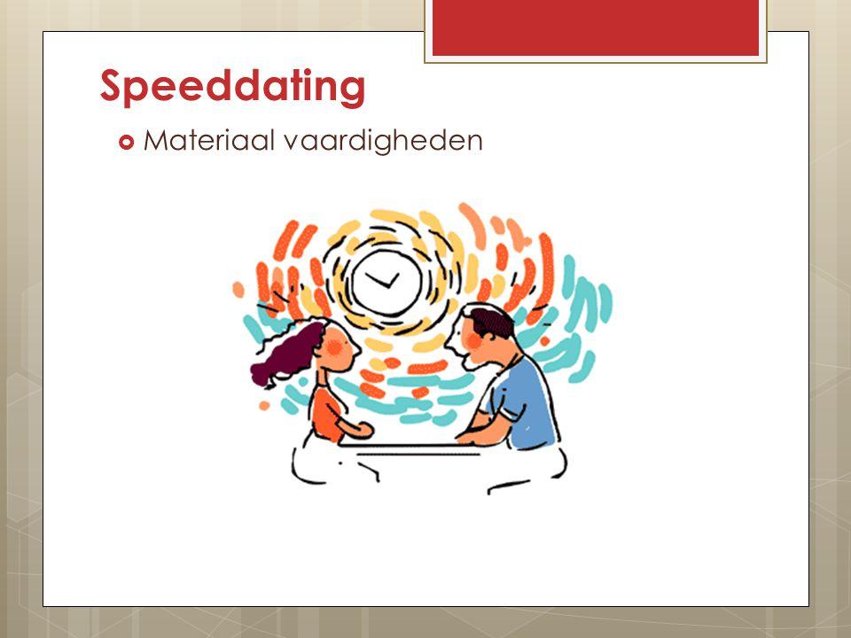 Speeddating Materiaal vaardigheden