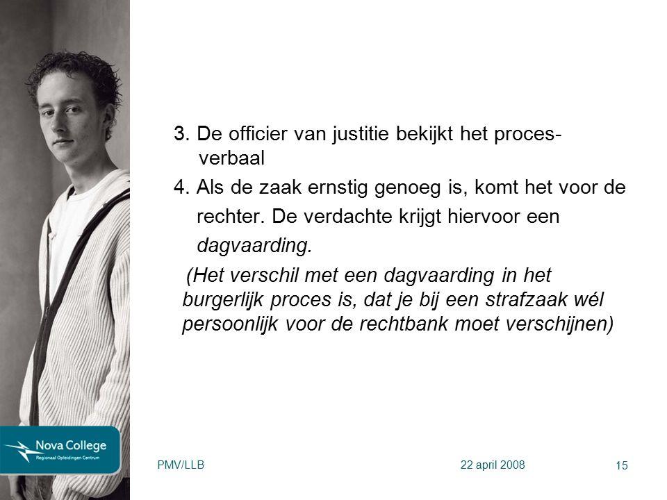 3. De officier van justitie bekijkt het proces- verbaal