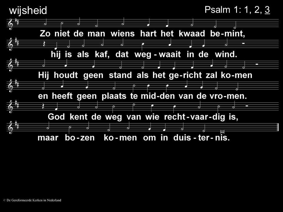 wijsheid Psalm 1: 1, 2, 3