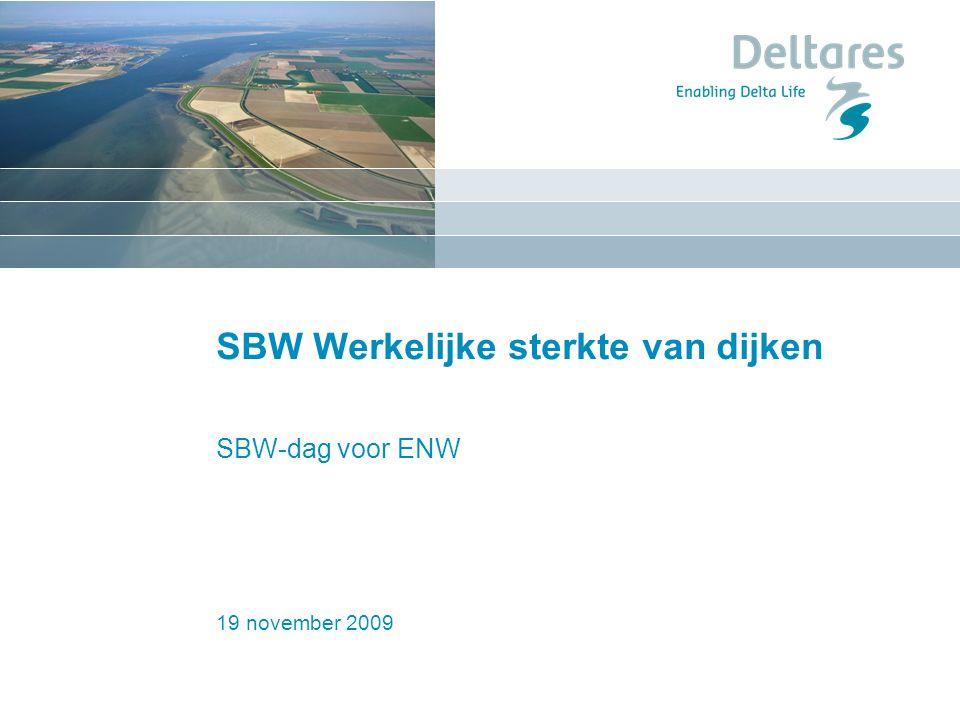 SBW Werkelijke sterkte van dijken