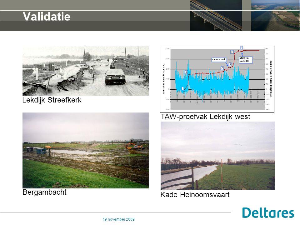 Validatie Lekdijk Streefkerk TAW-proefvak Lekdijk west Bergambacht