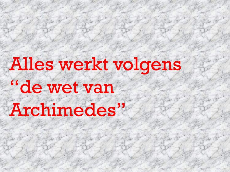 Alles werkt volgens de wet van Archimedes