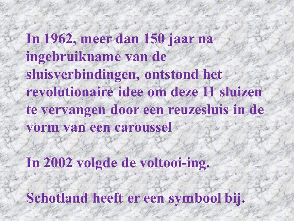 In 1962, meer dan 150 jaar na ingebruikname van de sluisverbindingen, ontstond het revolutionaire idee om deze 11 sluizen te vervangen door een reuzesluis in de vorm van een caroussel