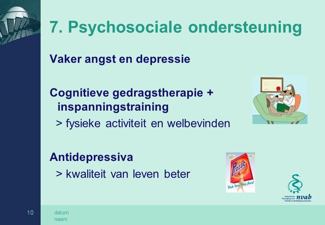 7. Psychosociale ondersteuning