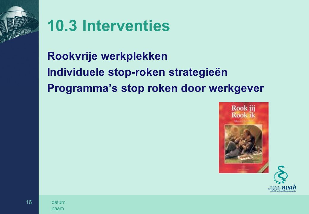 10.3 Interventies Rookvrije werkplekken