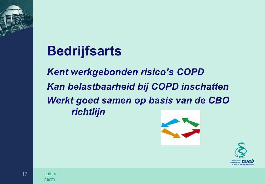 Kent werkgebonden risico's COPD