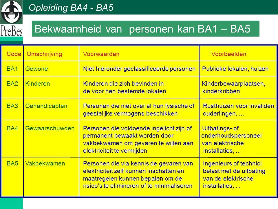 Bekwaamheid van personen kan BA1 – BA5