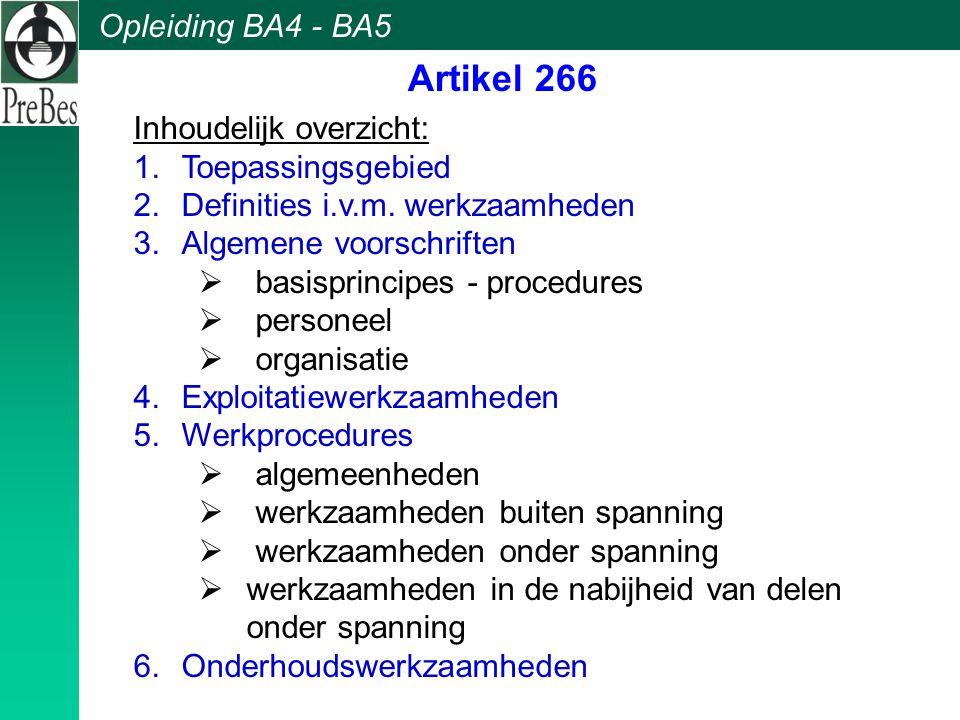 Artikel 266 Inhoudelijk overzicht: Toepassingsgebied