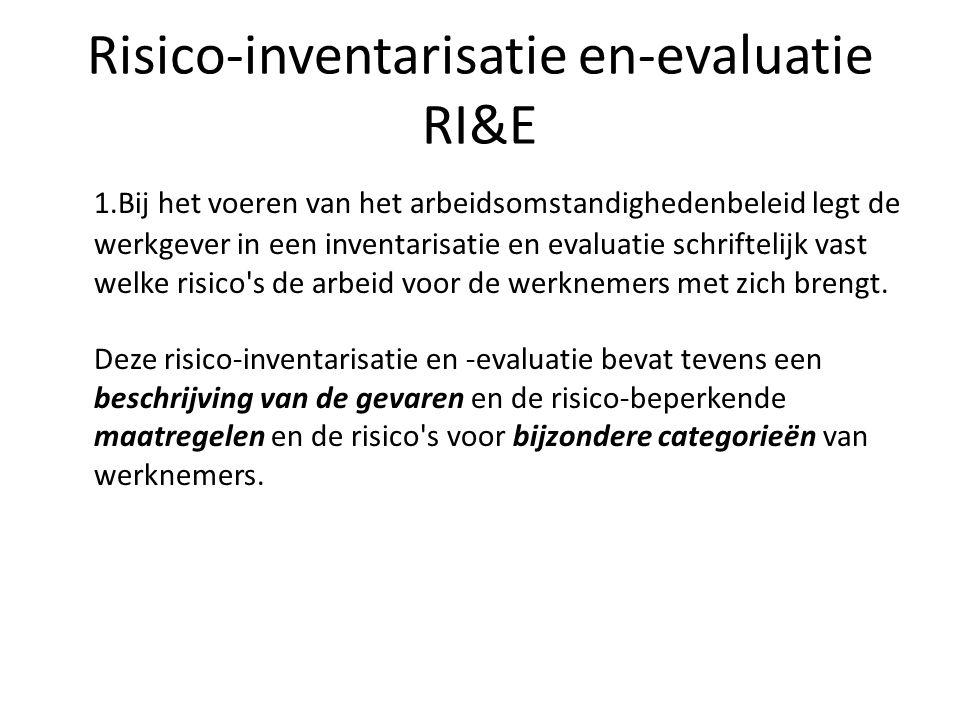 Risico-inventarisatie en-evaluatie RI&E