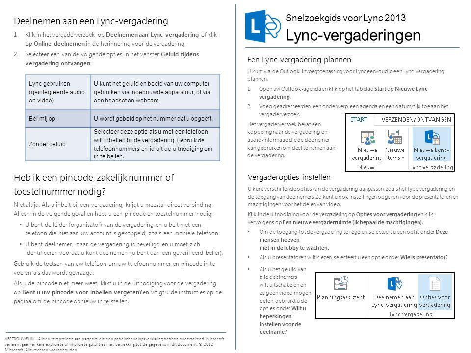 Lync-vergaderingen Deelnemen aan een Lync-vergadering