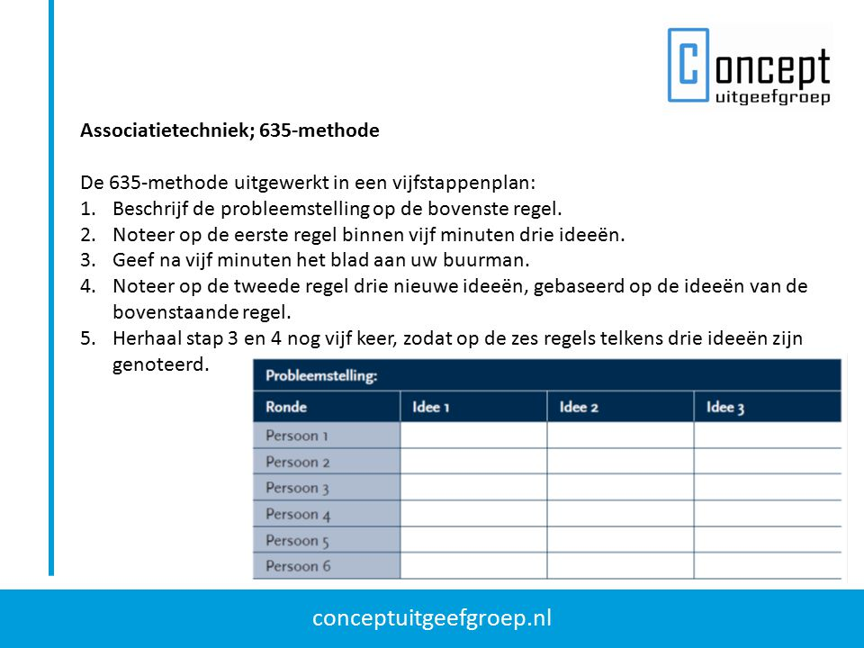 Associatietechniek; 635-methode