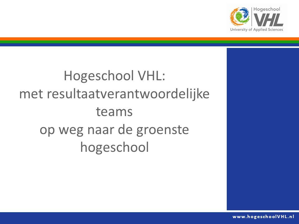 Hogeschool VHL: met resultaatverantwoordelijke teams op weg naar de groenste hogeschool